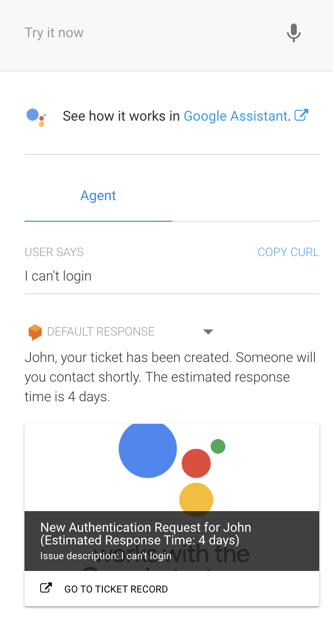 Implementing a Helpdesk Chatbot with Dialogflow & BigQuery ML